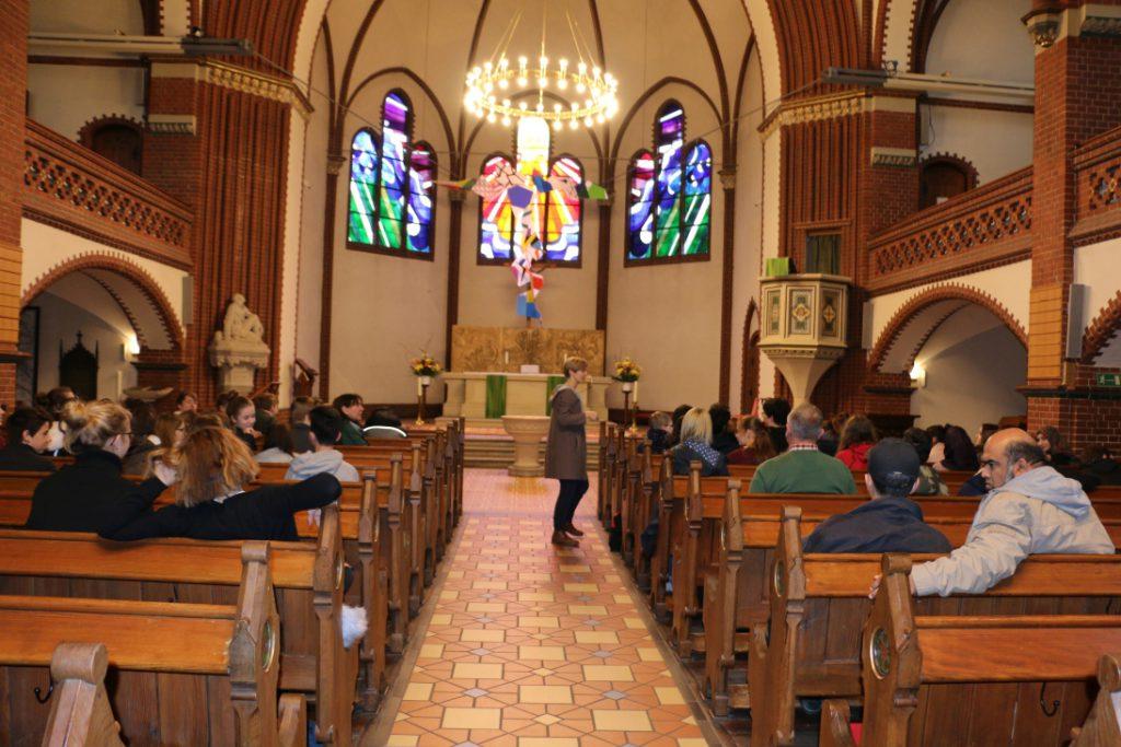 In der Auenkirche - rechts Daniel Alter und Imran Sagir