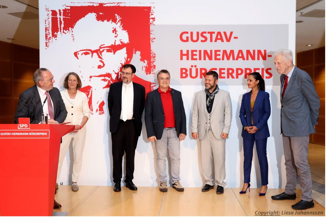 meet2respect erhält Gustav-Heinemann-Bürgerpreis der SPD